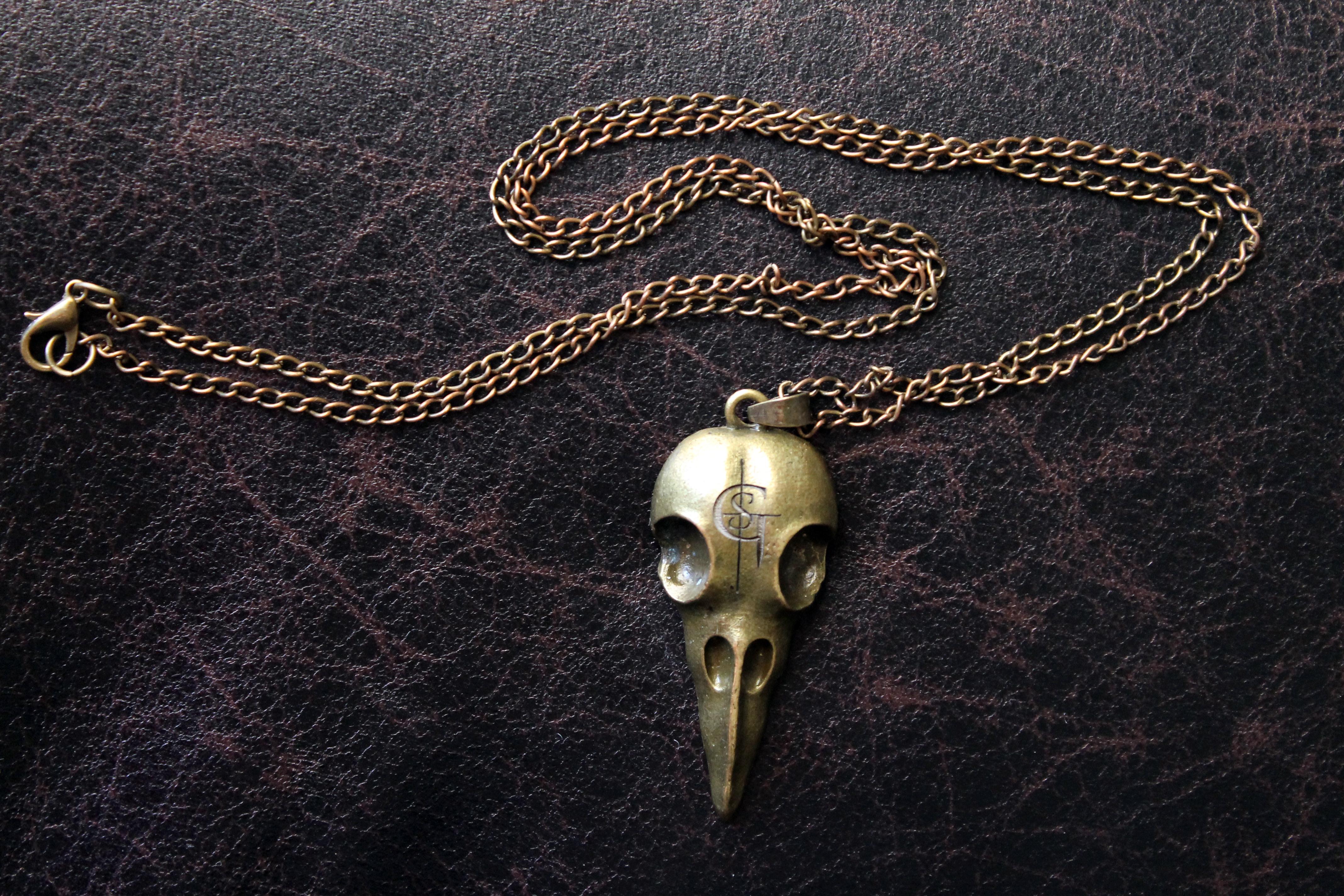 """Raven Skull"" Necklace"